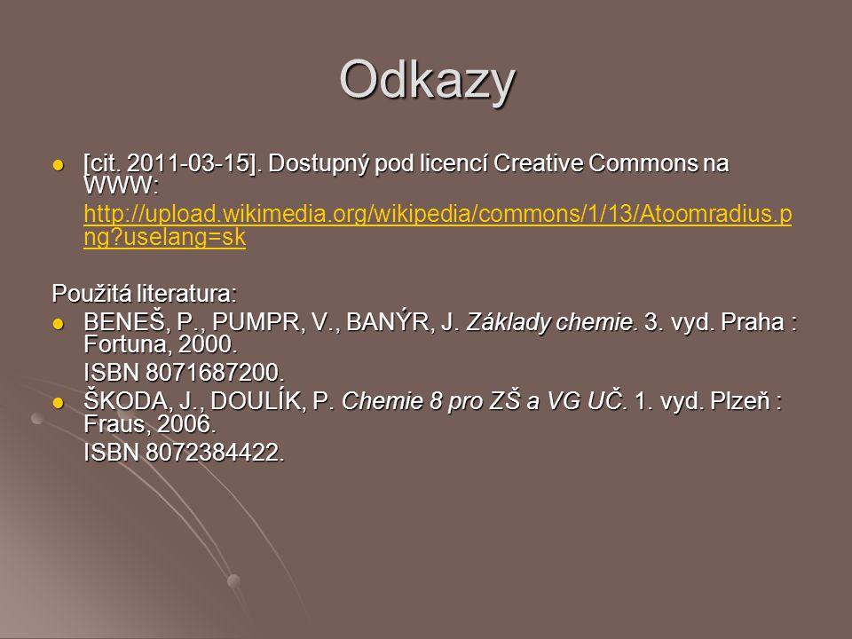 Odkazy [cit. 2011-03-15]. Dostupný pod licencí Creative Commons na WWW: